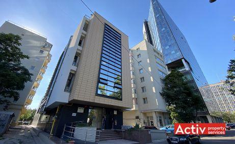 Barbu Vacarescu 42A birouri de inchiriat Bucuresti nord intrare cladire