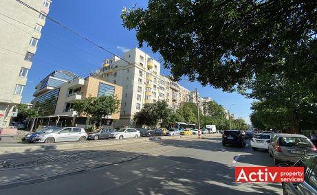 Barbu Vacarescu 42A cladire de birouri de inchiriat Bucuresti nord vedere catre bulevard