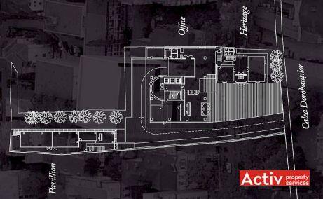 D'OR Offices birouri de inchiriat Bucuresti nord imagine plan