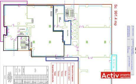 Zone 313 birouri de inchiriat plan etaj