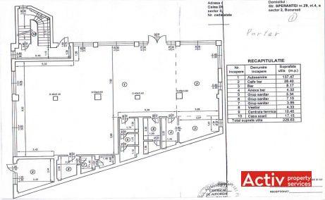 Calea Dudesti 121 inchiriere birouri Bucuresti Vitan plan parter