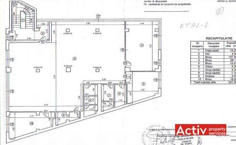Calea Dudesti 121 inchiriere birouri Bucuresti Vitan plan etaj 1