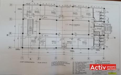Industriilor 13 birouri de inchiriat Bucuresti vest plan cladire
