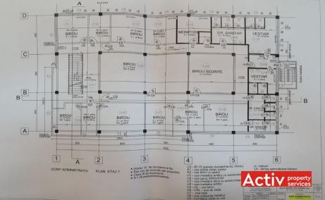 Industriilor 13 spatii de birouri de inchiriat Bucuresti vest plan cladire