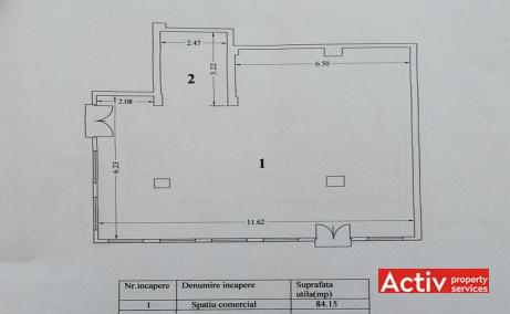 Tomis 55 birouri de inchiriat Constanta central schita cladire