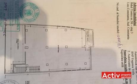 Tomis 58 spatii de birouri de inchiriat Constanta central imagine plan