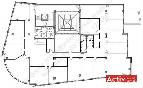 Budisteanu Center de inchiriat spatii de birouri Bucuresti central schita cladire
