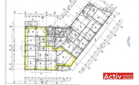 Gabrielle Center spatii de birouri de inchiriat Bucuresti nord plan cladire