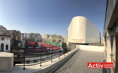 Baratiei 41-43 spatii de birouri de inchiriat Bucuresti central imagine terasa