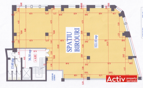 Baratiei 41-43 spatii de birouri de inchiriat Bucuresti central plan 2