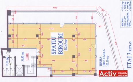Baratiei 41-43 spatii de birouri de inchiriat Bucuresti central plan 4
