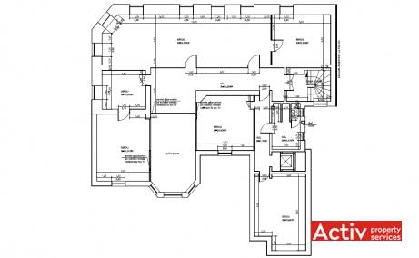 Stelea Spataru 12 spatii de birouri de inchiriat Bucuresti central imagine plan 3