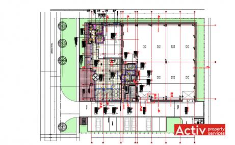 Metalurgiei 81B spatii de birouri de vanzare Bucuresti sud imagine plan 1
