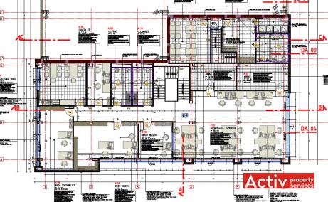 Metalurgiei 81B spatii de birouri de vanzare Bucuresti sud imagine plan 2