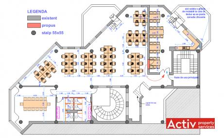 Brailei 2-4 birouri de inchiriat Tg. Mures central imagine plan cladire