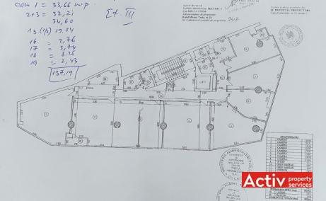 Mircea Voda 24 birouri de inchiriat Bucuresti central imagine plan cladire