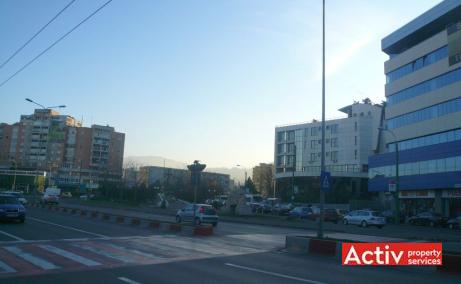 Allianz Tiriac inchiriere birouri Brasov central poza cale de acces