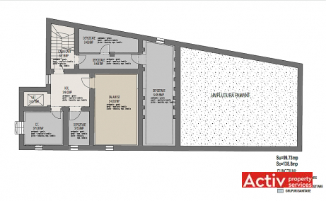Ferdinand 21 inchiriere birouri Bucuresti central imagine plan cladire