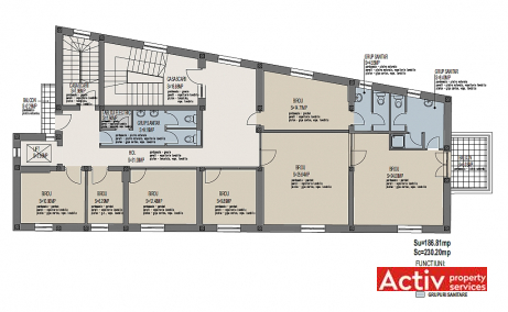 Ferdinand 21 inchiriere birouri Bucuresti central plan cladire