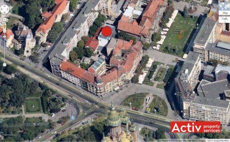 Victoriei Offices birouri de închiriat Timișoara central perspectivă aeriană