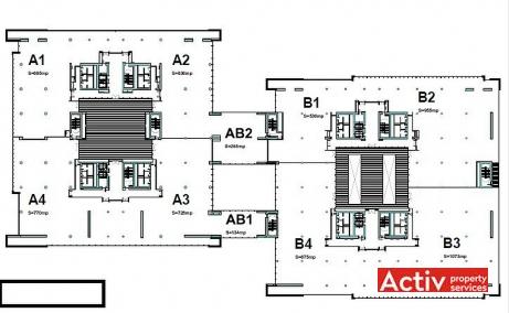 Platinum Business & Convention Center birouri București DN1 imagine plan etaj
