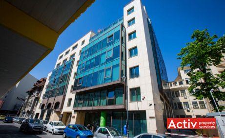 Unimed Business Center spații birouri centru vedere fațada strada Tudor Arghezi