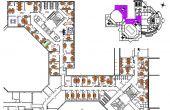 Regus World Trade Center spațiu de birouri Romexpo plan etaj