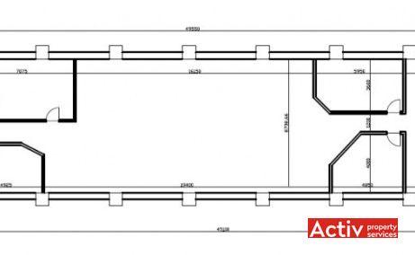TRUST CENTER spațiu de birouri metrou Petrache Poenaru plan etaj