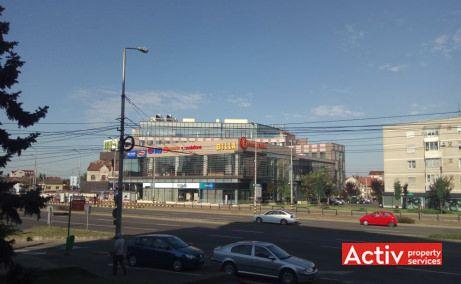 Oradea Plaza birouri de închiriat Oradea vedere exterioară dinspre parcare