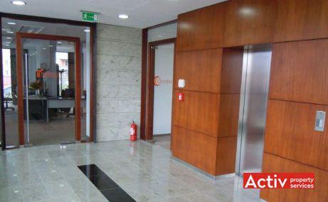 Oradea Plaza spatii de birouri, vedere lifturi