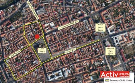 Piața Unirii 24 închirieri spații birouri Cluj-Napoca harta aeriană