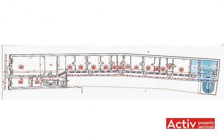 Piața Unirii 24 birouri de închiriat Cluj-Napoca plan clădire