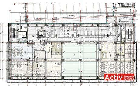 Liberty Technology Park birou de închiriat Cluj-Napoca plan etaj 2