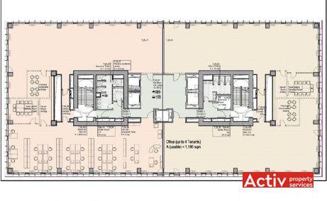 Timpuri Noi Square spații de birouri București plan clădiri