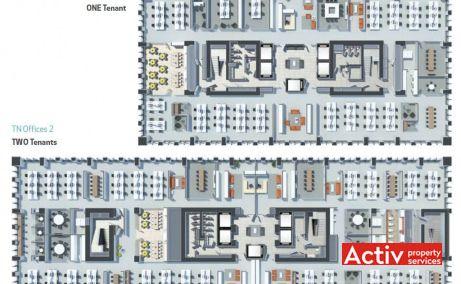 Timpuri Noi Square spațiu de birouri metrou Timpuri noi plan etaj