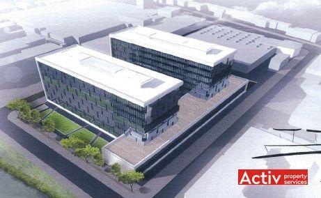 BEGA BUSINESS PARK spațiu de birouri Timișoara vedere aeriană