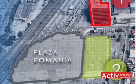PLAZA ROMÂNIA OFFICES birouri de închiriat București Bd Timișoara perspectivă încadrare în zonă