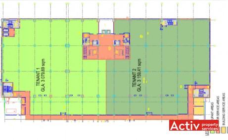 PLAZA ROMÂNIA OFFICES spații birouri metrou Lujerului plan clădire