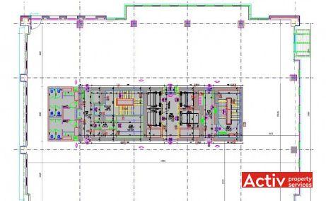 AFI PARK închirieri spații birouri Vasile Milea București, fotografie plan etaj