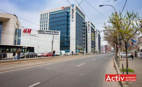 AFI PARK spații birouri București vedere din Bd Vasile Milea