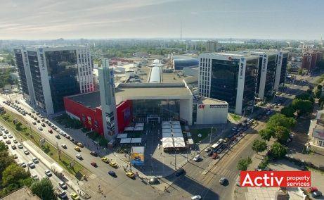 AFI PARK birouri de închiriat vedere aeriană intersecția bd Timișoara cu Vasile Milea