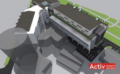 ROMCAPITAL CENTER birouri de închiriat Timișoara proiecție aeriană