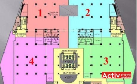 CITY OFFICES spațiu de birouri City Mall plan general